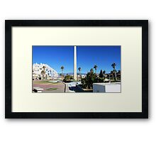 FORGOTTEN PLAZA. Framed Print