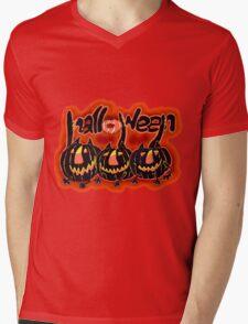 Non-vegetarian Pumpkins Mens V-Neck T-Shirt