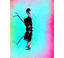 Neon Pelican Photographic Print