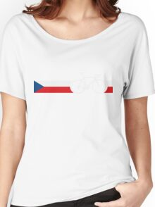 Bike Stripes Czech Republic Women's Relaxed Fit T-Shirt