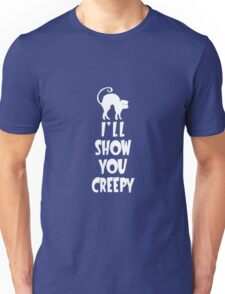 I'll Show You Creepy White Halloween Party Design Unisex T-Shirt