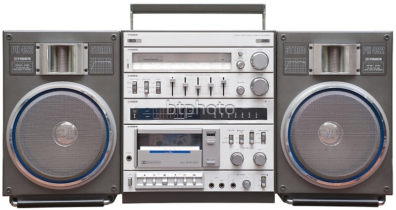 fisher ph 492 boombox ghetto blaster posters by btphoto redbubble. Black Bedroom Furniture Sets. Home Design Ideas