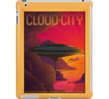 Cloud City Retro Travel Poster iPad Case/Skin