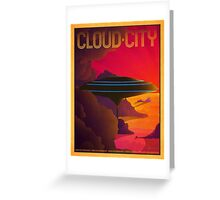 Cloud City Retro Travel Poster Greeting Card
