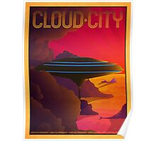 Cloud City Retro Travel Poster Poster