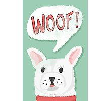 The Woofing Frenchie Photographic Print