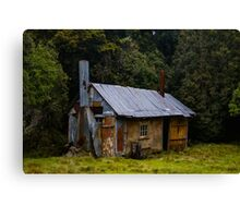 Yackandandah (Sunshine) hut and skinshed, near Cradle Mountain, Tasmania Canvas Print