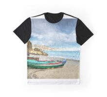 Beach of Nerja, southern Spain Graphic T-Shirt