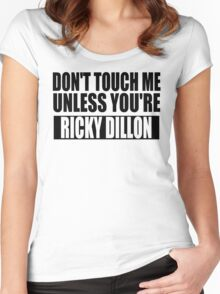 don't touch - RD Women's Fitted Scoop T-Shirt