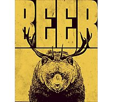 BEER Bear with Antlers Photographic Print