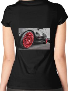 Amazing Red Alloys Women's Fitted Scoop T-Shirt