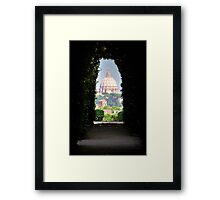 St. Peter Dome viewed from the Beautiful Garden Framed Print