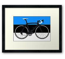 Bike Flag Estonia (Big - Highlight) Framed Print