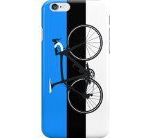 Bike Flag Estonia (Big - Highlight) iPhone Case/Skin