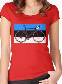 Bike Flag Estonia (Big - Highlight) Women's Fitted Scoop T-Shirt