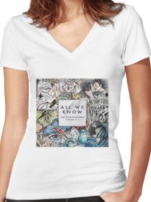 All We Know- Chainsmokers Women's Fitted V-Neck T-Shirt