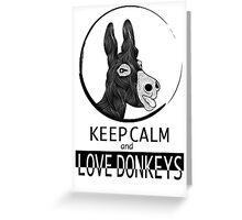 Love Donkeys Greeting Card