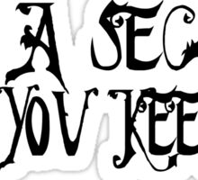 Pretty Little Liars TV Serie Quotes Secret Sticker