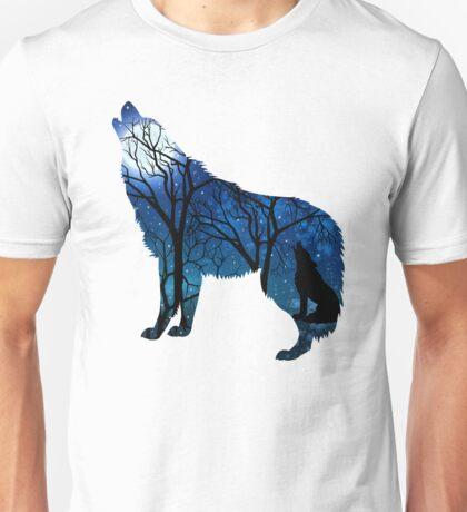 Howling Wild Wolf Unisex T-Shirt