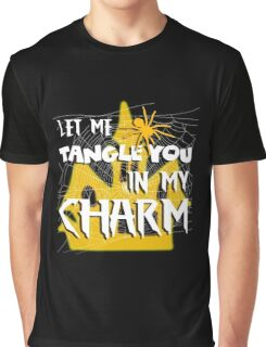 Let Me Tangle You In My Charm Orange Halloween Party Design Graphic T-Shirt