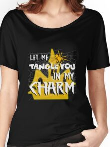 Let Me Tangle You In My Charm Orange Halloween Party Design Women's Relaxed Fit T-Shirt