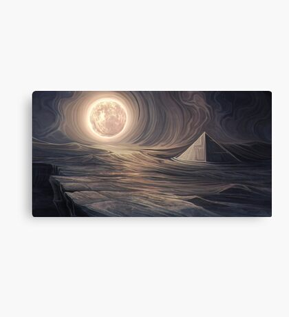 Lonely pyramid Canvas Print