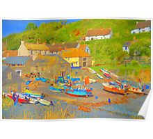 Cadgwith Cove Harbour Poster