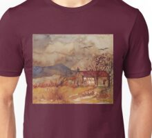 A stone barn in coffee Unisex T-Shirt
