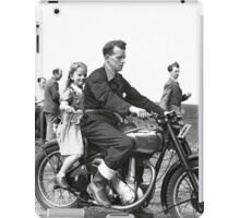 Girl on a bike iPad Case/Skin