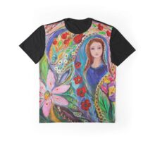 Leah and Flower of Mandragora Graphic T-Shirt