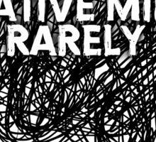 Creative minds Sticker