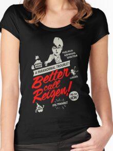 Better Call Reigen Black Back Women's Fitted Scoop T-Shirt