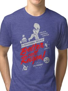 Better Call Reigen Black Back Tri-blend T-Shirt
