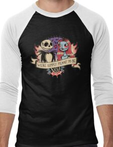Old school nightmare Men's Baseball ¾ T-Shirt