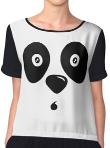 Panda Bear Face Chiffon Top