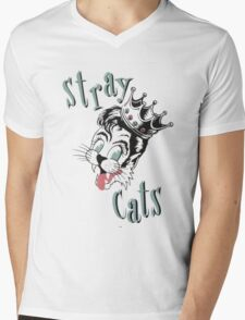 Cats Band Mens V-Neck T-Shirt