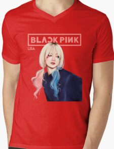 BLACKPINK LISA Mens V-Neck T-Shirt
