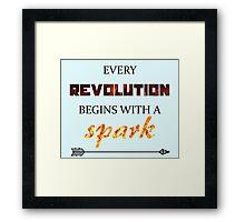 The Hunger Games - Spark  Framed Print
