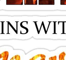 The Hunger Games - Spark  Sticker