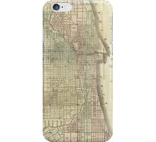 Vintage Map of Chicago (1857) iPhone Case/Skin