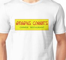 Authentic GENGHIS CONNIE'S CHINESE RESTAURANT Unisex T-Shirt