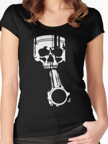 Skull Piston Boost JDM Tuning Drift Women's Fitted Scoop T-Shirt