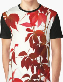 Red Autumn Graphic T-Shirt