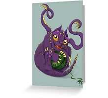 Baby Displacer Beast D&D Monster Greeting Card