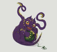 Baby Displacer Beast D&D Monster by blackgoat