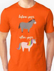 Before Yoga / After Yoga Unisex T-Shirt