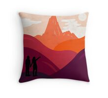 End Of The Journey Throw Pillow