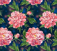 Cute Pink Peony Flower Pattern by sale