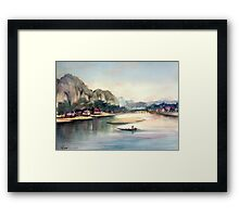 """From series """"Distant countries"""" - East Asia Framed Print"""