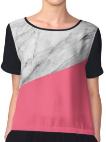 Marble and Pink Chiffon Top